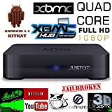 JUSTOP MXQ Quad Core Android 4.4 Kitkat XBMC TV Box , Full HD 1080P Out , Quad Core 3D Graphic , 1GB DDR3 / 8GB NAND Flash / Mini PC Android Smart TV Box with WiFi