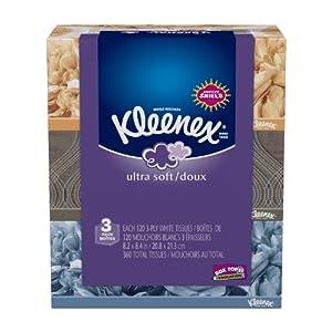 Kleenex Ultra Facial Tissue Regular 3 Count