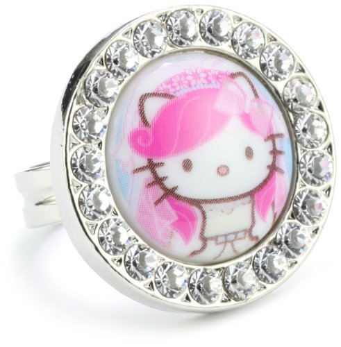 "TARINA TARANTINO ""Hello Kitty Pink Head"" Bridal Cocktail Ring"
