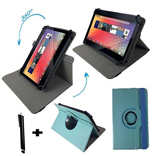 "Huawei MediaPad 10 FHD 3G 25,4 cm / 10.1 "" Tablet Pc Tasche mit 360° grad Drehfunktion - 10 Zoll Türkis 360"