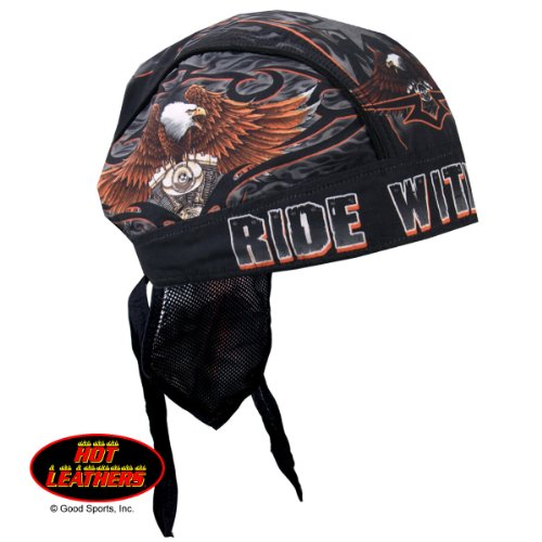 Hot Leathers Authentic Bikers Premium Headwraps, RIDE WITH PRIDE - High Quality Micro-Fiber & Mesh Lining HEADWRAP