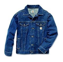 Carhartt Men\'s Denim Jean Jacket Unlined,Authentic Blue  (Closeout),X-Large