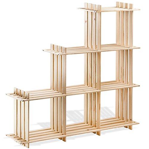 dema holzregal 6 f cher. Black Bedroom Furniture Sets. Home Design Ideas