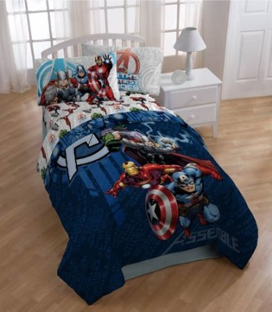 Avengers Twin Size 4-Piece Bed In A Bag With Sheet Set New! front-753893