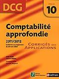 Comptabilité approfondie - épreuve 10 DCG - Corrigés des applications