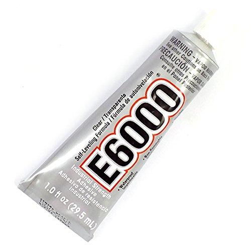 E6000 Colla industriale adesiva trasparente ad alto fissaggio per brillantini, strass e cristalli, da 29,5 ml, ideale per decorare scarpe, album per ritagli e qualsiasi cosa a cui si desidera aggiungere cristalli