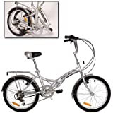 Stowabike Folding City Compact Bike - Silver
