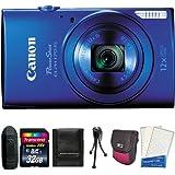 Canon PowerShot ELPH 170 IS 20.0MP Digital Camera (Blue) + 32GB Card + Reader + Case + Accessory Bundle
