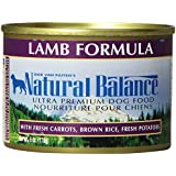 Natural Balance Canned Dog Food, Lamb and Rice Recipe, 12 x 6 Ounce Pack