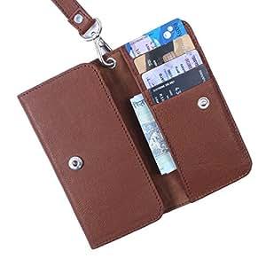 Dooda Genuine Leather Wallet Pouch Case For Xiaomi MI3 (TAN BROWN)
