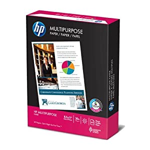 HP Multipurpose Copy/Laser/Inkjet Paper, 96 Brightness, 20 lb, Letter Size (8.5 x 11), 500 Sheets (11200-0)
