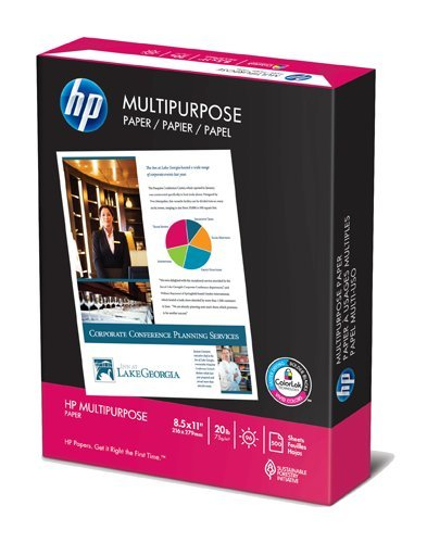 HP Multipurpose Copy/Laser/Inkjet Paper, 96 Brightness,