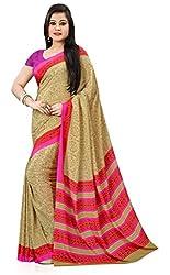 Design Willa Smooth feel Art crepe Sari (DWPC027,Beige)