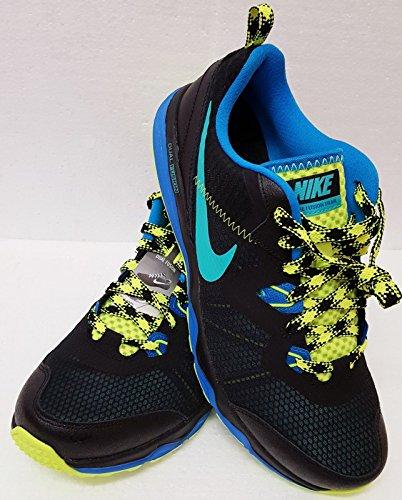 Nike da uomo Dual Fusion scarpe da trekking da Jogging ginnastica scarpe da ginnastica, nero (Black/Blue/Volt), 10.5 UK / 45.5 EU