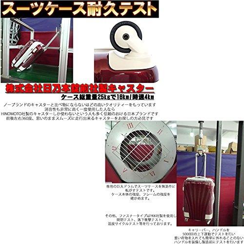 [BB-Monsters]  ビービーモンスターズ スーツケース 小型 機内持込み 超軽量 鏡面加工 ファスナータイプ 朱雀 (小型、SS、19, ワインレッド×ブラックパーツ)