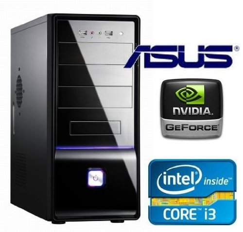 Tronics24 PC-System Intel Core i3-3220 (DualCore) Ivy Bridge 2 x 3.3 GHz 3. Generation, 8 GB DDR3, Asus, USB 3.0, SATA3, 2048 MB Nvidia Geforce GTX 660 Ti, 1000 GB SATA3, DVD-Brenner, Cardreader, 7.1 Channel Sound, GigabitLan, GamerPC
