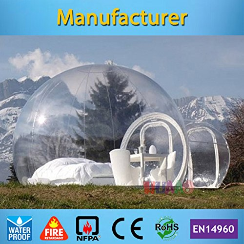 Outdoor Single Tunnel Inflatable Bubble Tent Family Camping Backyard Tent