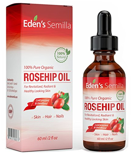 100% Pure Rosehip Oil - 2 OZ - Certified ORGANIC - Cold pressed & unrefined - NON Greasy HIGH absorbency - Use daily - Anti ageing, nourishes, hydrates and visibly reduces fine lines, scars, stretch marks and skin pigmentations - Suitable for all ski
