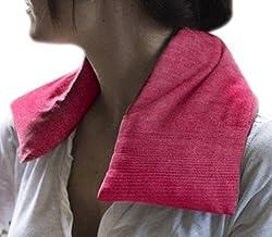 Organic Maati Nature Soothe Hot/Cold Body Wrap (Pink, 16 Cms X 49 Cms X 1.5 Cms) - Lemongrass