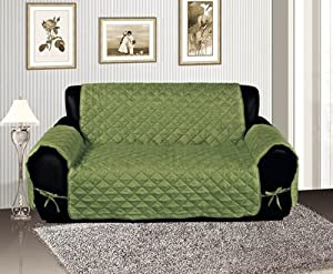 sage quilted micro suede pet dog couch sofa