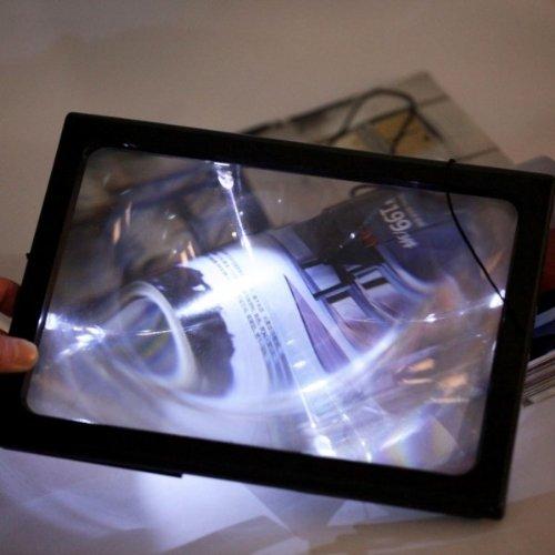 Usongs Magnifier Led Light Illumination Table Style Reading Magnifying Glass Loupe