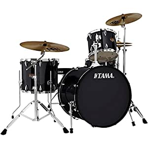 tama imperialstar 4 piece drum set with hardware and cymbals 22 bass 12 16 toms. Black Bedroom Furniture Sets. Home Design Ideas