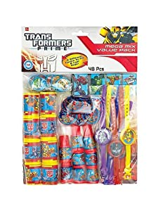 Transformers Prime Party Favor Pack 48 Pieces from Amscan
