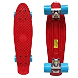 """Rimable Complete 22"""" Skateboard (Red & Blue)"""