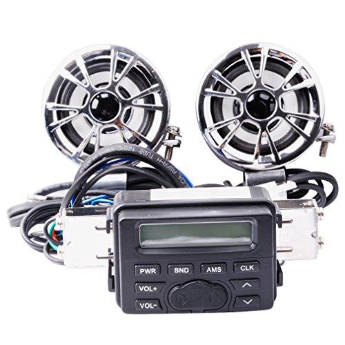 Aimeechow-Motorcycle-ATV-UTV-Bike-Audio-FM-Radio-MP3-iPod-Stereo-Sound-System-Waterproof-with-2-Speakers