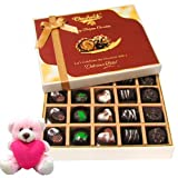 Valentine Chocholik Premium Gifts - Best Collection Of Dark And Milk Chocolate Box With Teddy