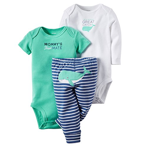 Carters Baby Boys 3-pc. Great Catch Bodysuit Set 12 Month Blue/green/white