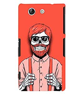 TOUCHNER (TN) Red Skeleton 2 Back Case Cover for Sony Xperia Z4 Mini::Sony Xperia Z4 Compact