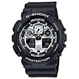 G-Shock Military Series GA-100BW-1A White and Black Series Luxury Watch - Black / One Size