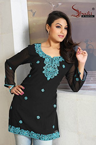 Ladies Indian Designer Tunic Kurti BlouseTop Next Day Delivery