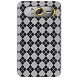 Amzer AMZ89932 Luxe Argyle High Gloss TPU Soft Gel Skin Case for HTC HD7 (Clear)