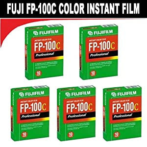 Fujifilm Fujicolor Professional FP-100C Color Instant Film - ISO 100 - 10 exposures (5 Packs)
