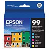 Epson Claria T099920 Hi-Definition 99 Standard-capacity Inkjet Cartridge Color Multipack -Cyan/Light Cyan/Magenta/Light Magenta/Yellow ~ Epson