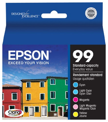 Epson Claria T099920 Hi-Definition 99 Standard-capacity Inkjet Cartridge Color Multipack -Cyan/Light Cyan/Magenta/Light Magenta/ at Sears.com