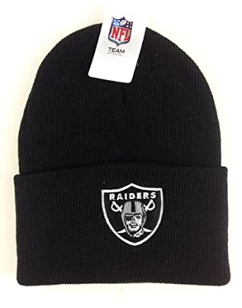 NFL Oakland Raiders Black Cuffed Beanie Hat
