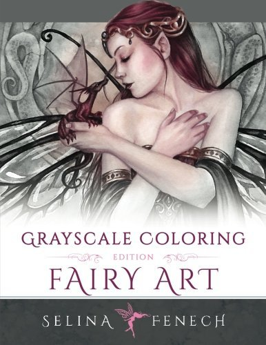 Fairy Art Grayscale Coloring Edition Grayscale Coloring Books By