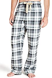 North Coast Pure Brushed Cotton Marl Check Pyjama Bottoms
