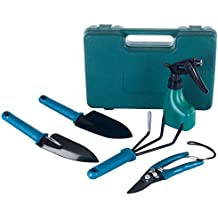 Stalwart 75-65931 6-in-1 Outdoor Garden Tool Set With Carrying Case