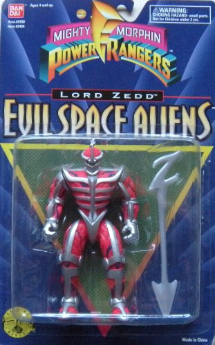 Buy Low Price Bandai Power Rangers the Movie MMPR 1995 Evil Space Alien Lord Zedd MOSC MOC NEW 5 1/2″ Rare Action Figure (B004TZALYC)