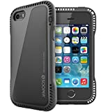SOOPER iPhone 5s /5 Case Extreme Durable Air Cushion Series-Piano Black (Heavy Duty)