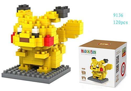 LOZ 8box Diamond Block Pokemon Pikachu Squirtle Bulbasaur Eevee Charmander Charizard Gengar Mewtwo 1180pcs Parent-child Games Building Blocks Childrens Educational Toys