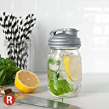 reCAP Mason Jars POUR & Ball Pint Jar, Regular Mouth, Canning Jar Lid, Silver on Clear