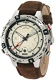 Timex Men's T2N721 Intelligent Quartz Adventure Series Tide Temp Compass Brown Leather Strap Watch