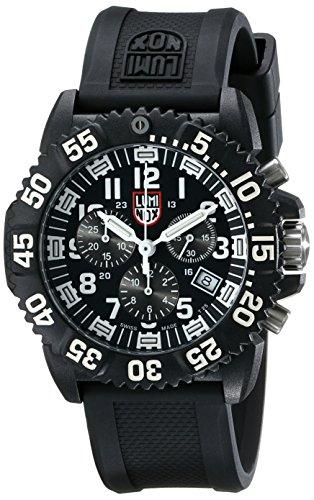 Luminox Men's 3081 Black Polyurethane Swiss Quartz Watch with Black Dial