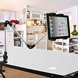 ECVISION Desktop seat Bed bolt clamp mount bracket Ipad holder IPad stand Ipad monut for Ipad & All Tablet and Wide-Sreen Mobile Phones use in car,office,home -with Product Replacement Warranty from ECVISION (Three-section)