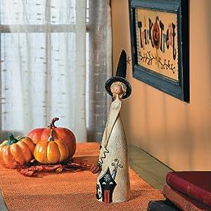 Fancy Witch Figurine - Halloween Decor